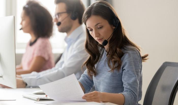 Ruch telefoniczny w placówce medycznej