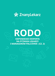 rodo - okładka pytania i odpowiedzi dla lekarzy i managerów placówek miniatura